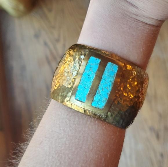 *RARE* Vintage Celia Harms Brass Cuff Bracelet